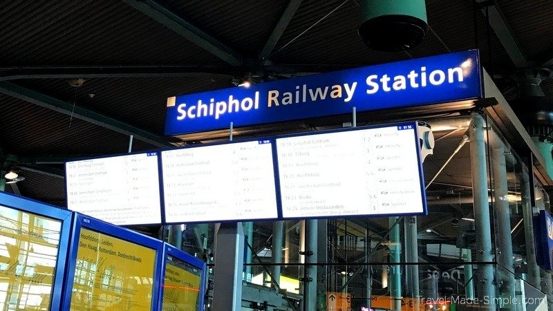 Amsterdam layover guide Schipol railway station