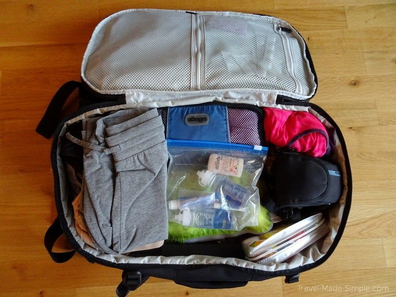 what to pack for a trip - Tortuga 35L Setout women's backpack packed up