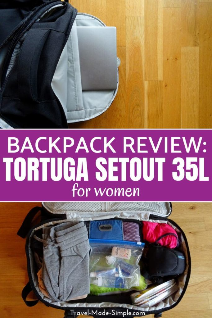 backpack review Tortuga Setout 35L for women