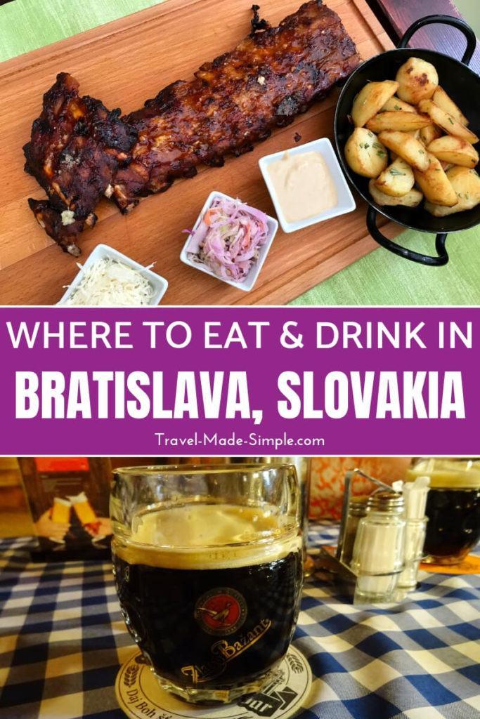 food in Bratislava Slovakia