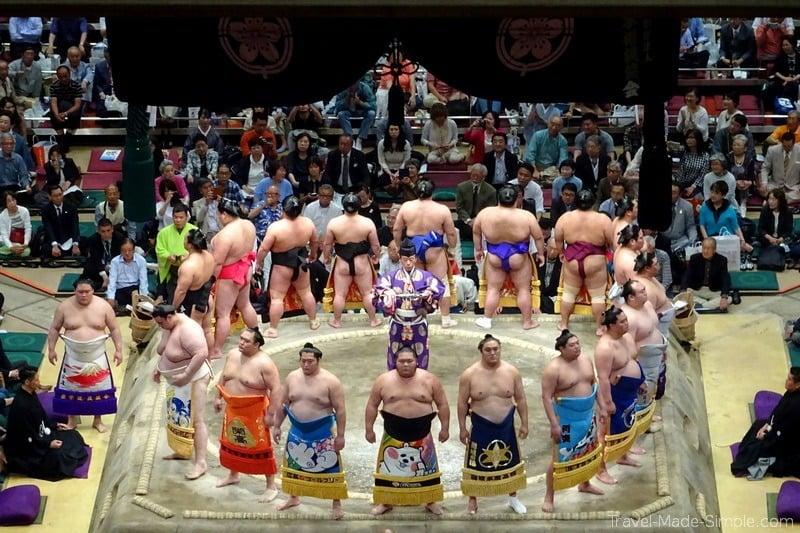 sumo tournament Tokyo Japan