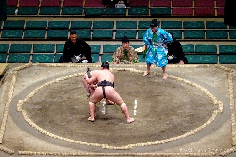 sumo wrestling bout Tokyo Japan