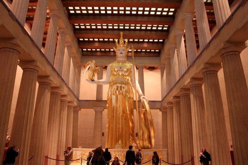 3 days in Nashville - Athena statue in Parthenon in Nashville, TN
