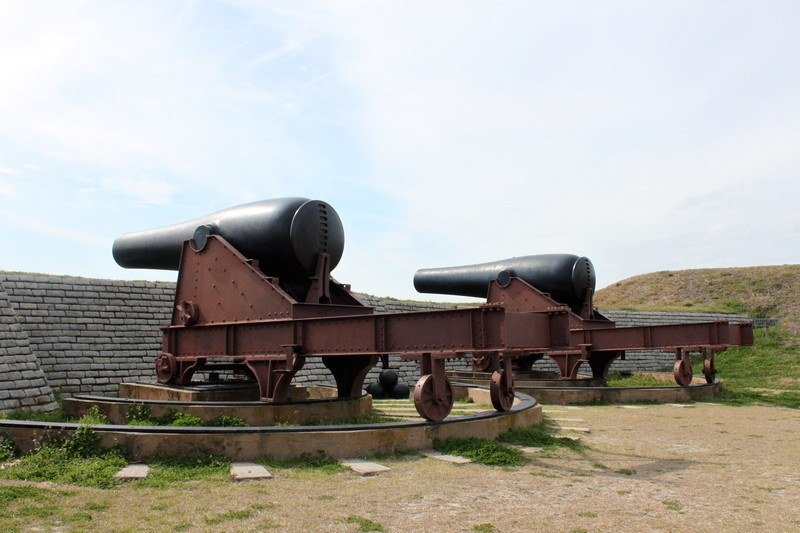 things to do in Charleston, SC - cannons at Fort Sumter